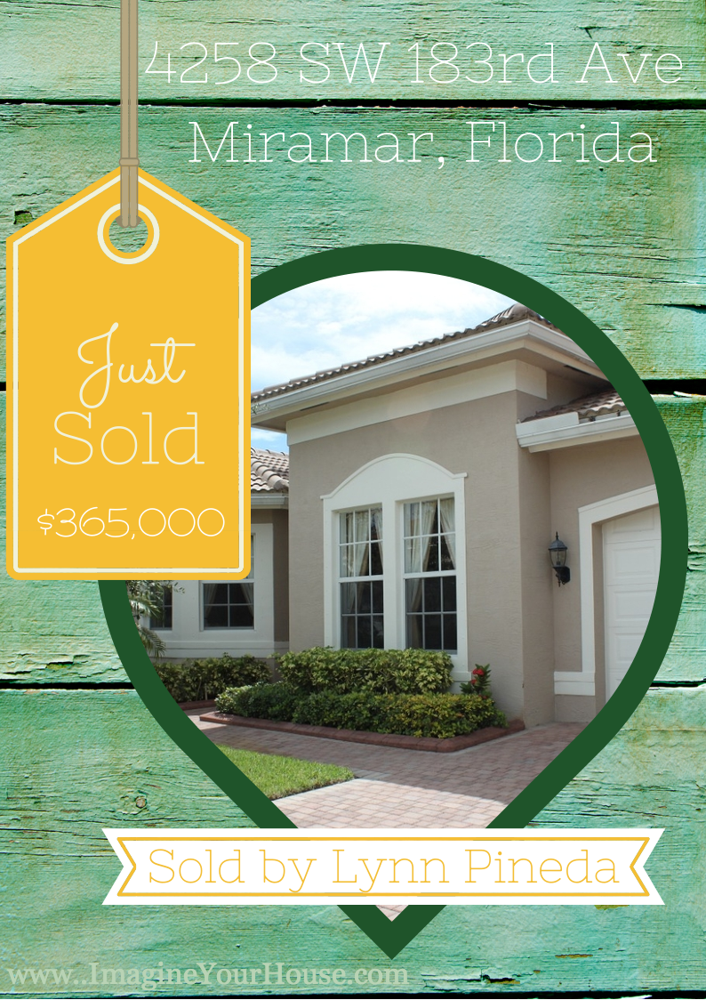Just Sold 4258 SW 183rd Ave in Miramar of Sunset Falls