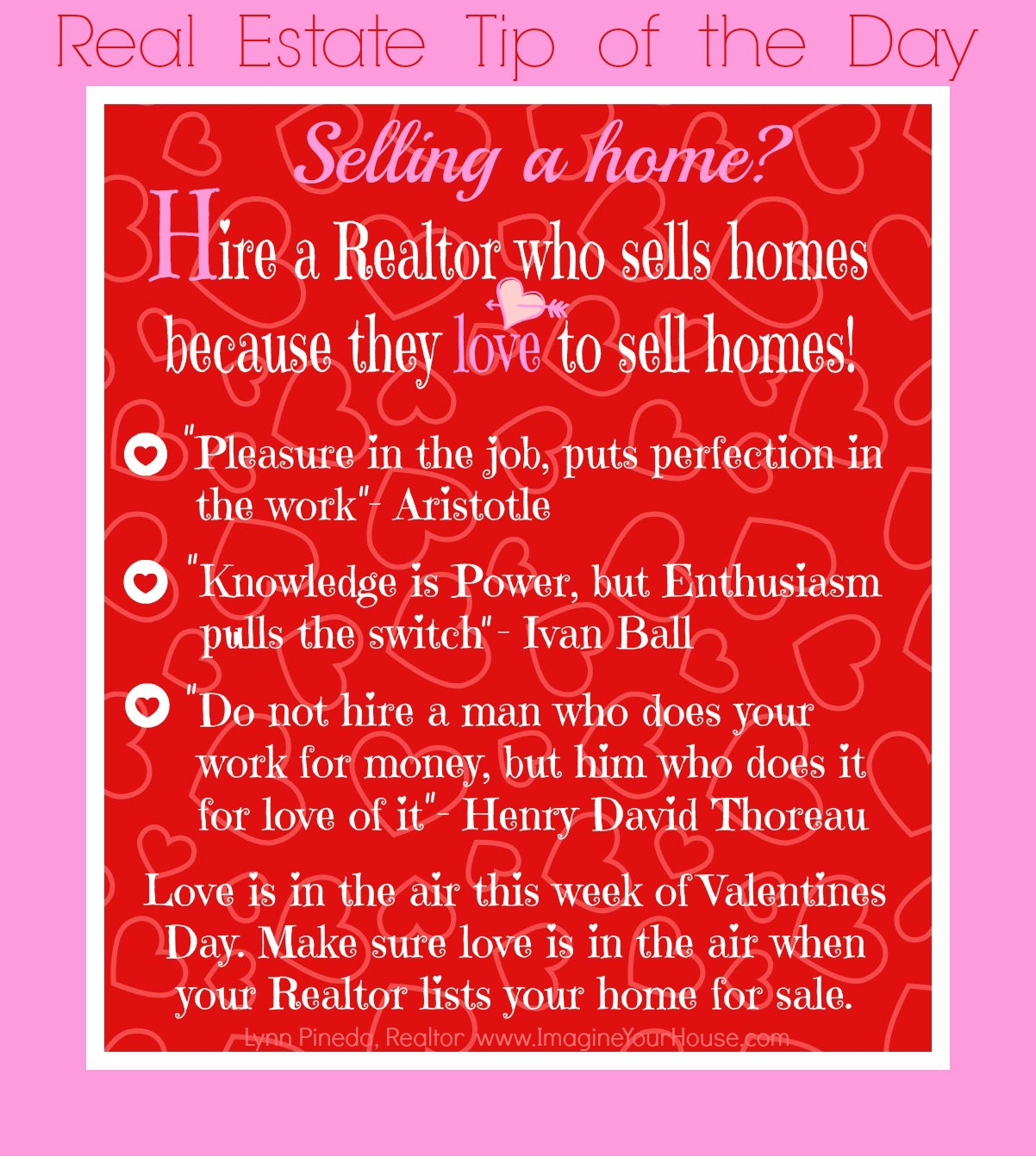 Real Estate Tip of the Day Feb 13 2014 IYH