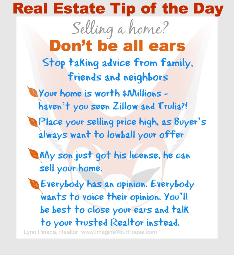 Real Estate Tip of the Day - don't be all ears