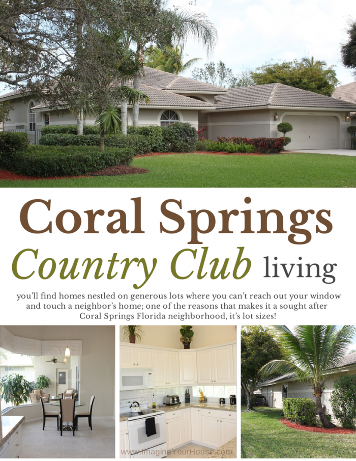 Living in Coral Springs Country Club neighborhood of Coral Springs