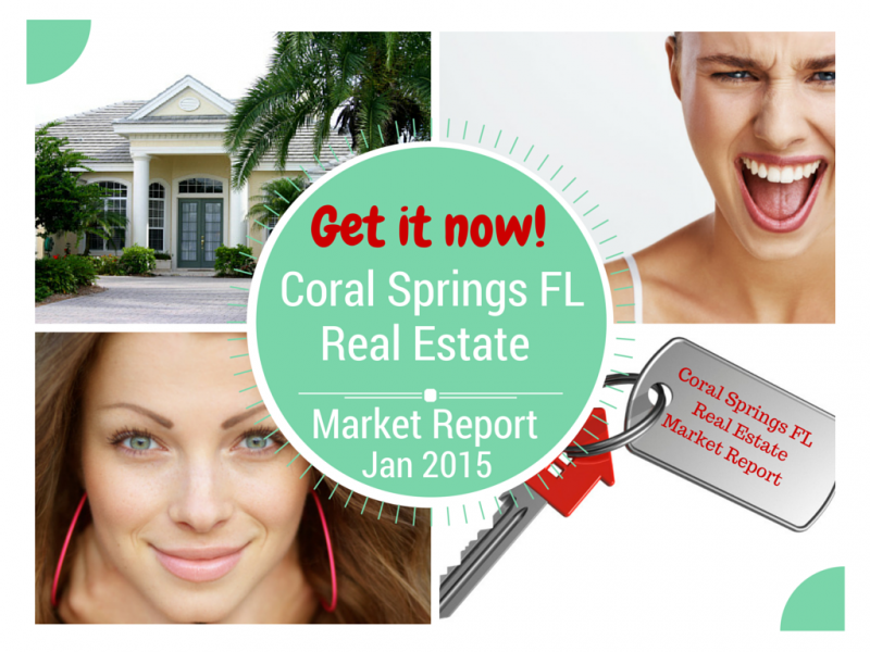 Home Sales in Coral Springs FL Jan 2015