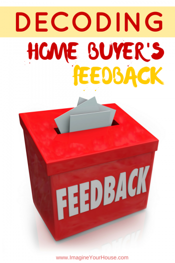feedback on the home you're selling
