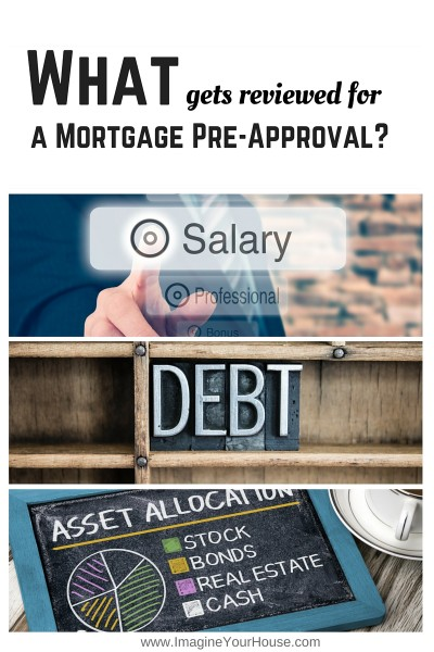 financials needed for a mortgage pre approval
