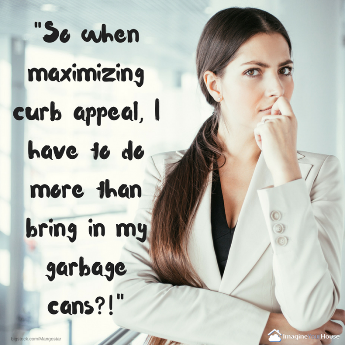 Curb Appeal and garbage cans