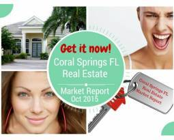 Coral Springs Real Estate Market Report for Oct 2015