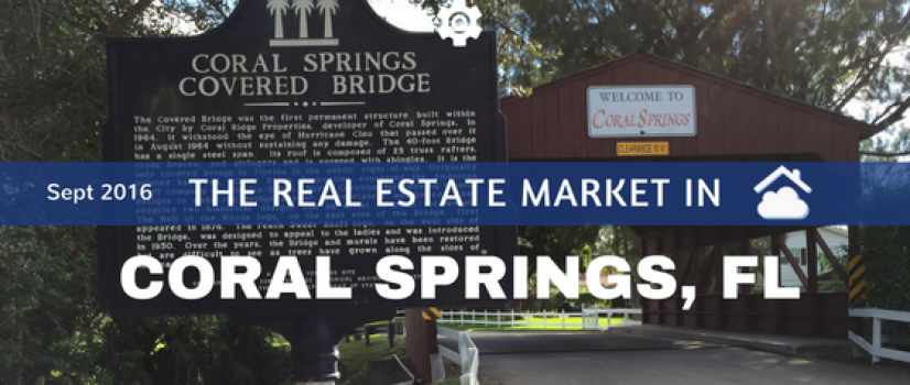 Coral Springs Real Estate Market Report for Sept 2016