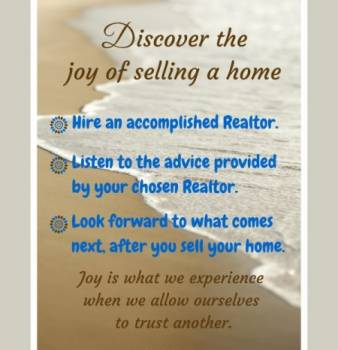 Discover the joy of selling a home