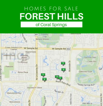Real Estate at a Glance in Forest Hills of Coral Springs Florida