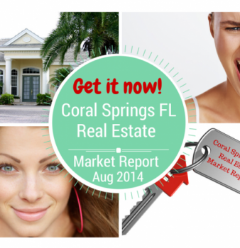 Homes for Sale in Coral Springs FL – Real Estate Market Report August 2014