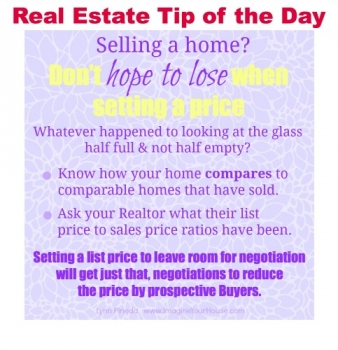 Don't hope to lose when setting a price to sell a home