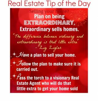Plan on being extraordinary. Extraordinary sells homes.